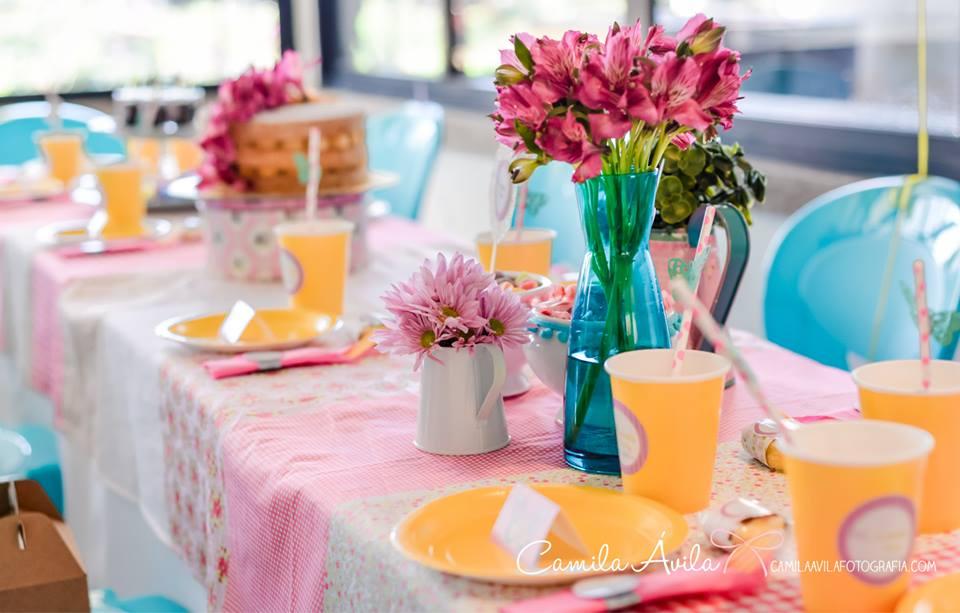 festa borboletas mesa