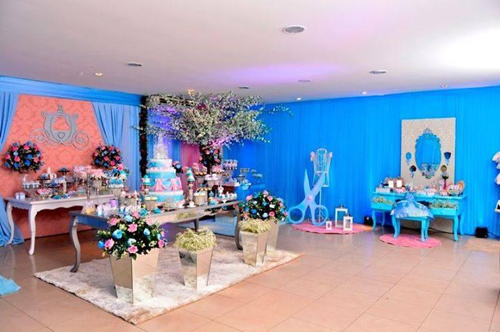 festa princesa mesas