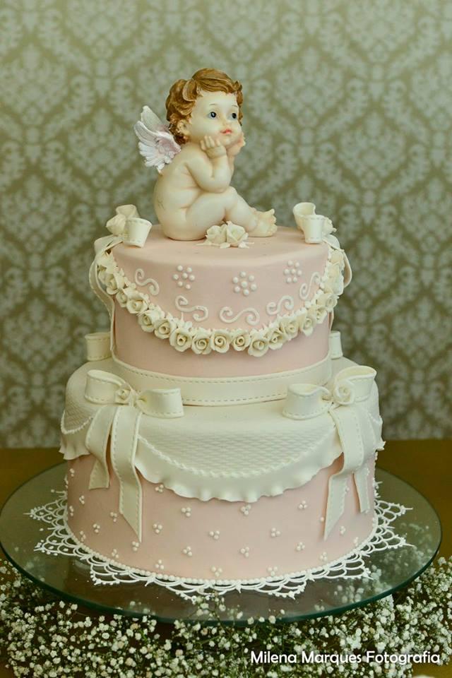 batizado ana alice bolo