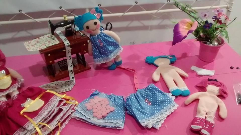 oficina de bonecas meninas fashion pink2