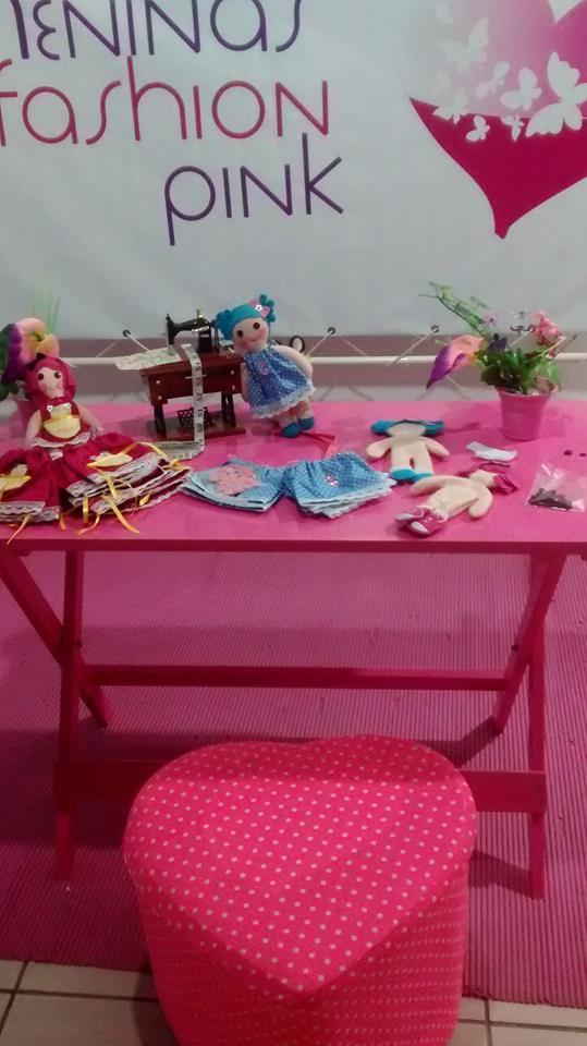 oficina de bonecas meninas fashion pink3