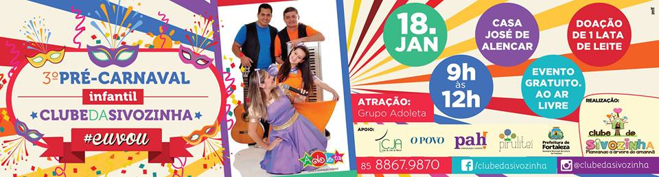 3º Pré-Carnaval Infantil Clube da Sivozinha