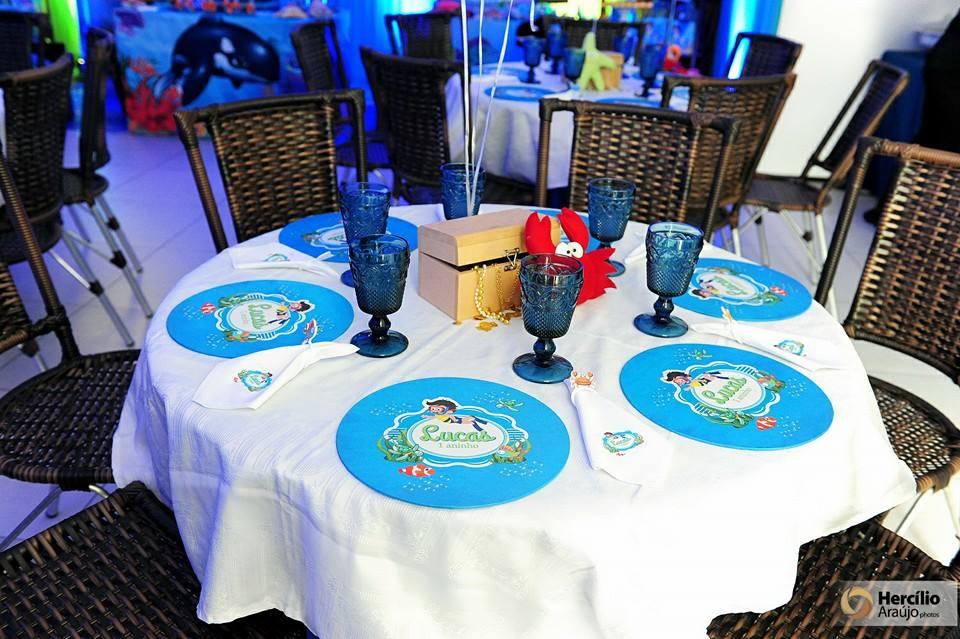 aniver Lucas mesas convidados