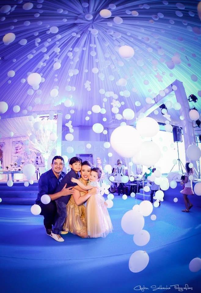 Aniversário Maria Liz e Lucas ambiente balões