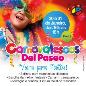 Baile à fantasia anima o pré-carnaval no Del Paseo