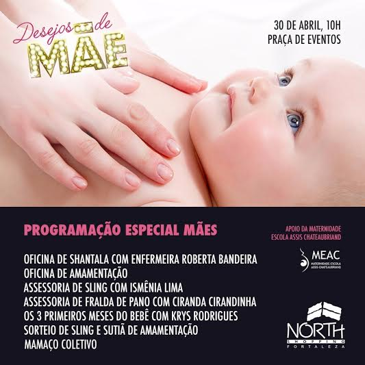 Mamaço coletivo integra programação do Dia das Mães do North Shopping Fortaleza