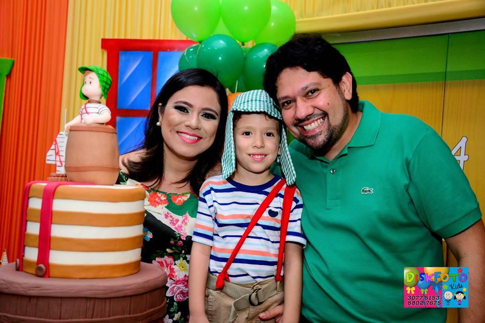 aniver Luiz Miguel com pais