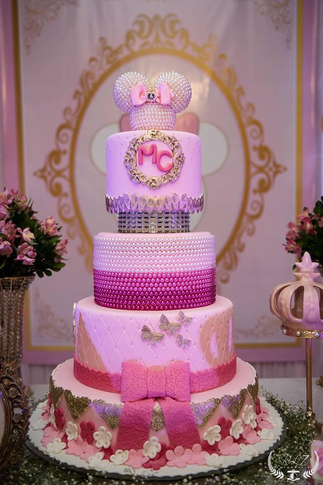 aniversario da minnie bolo