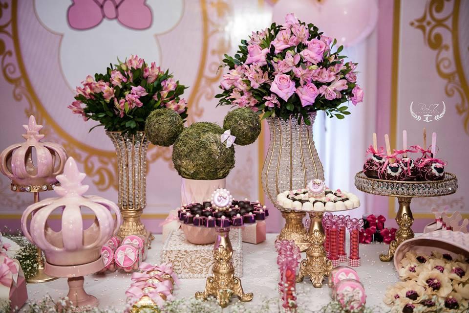 aniversario da minnie decoração mesa