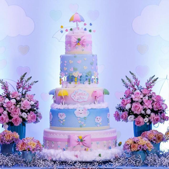 chuva de amor bolo