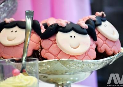 casa de boneca cupcakes
