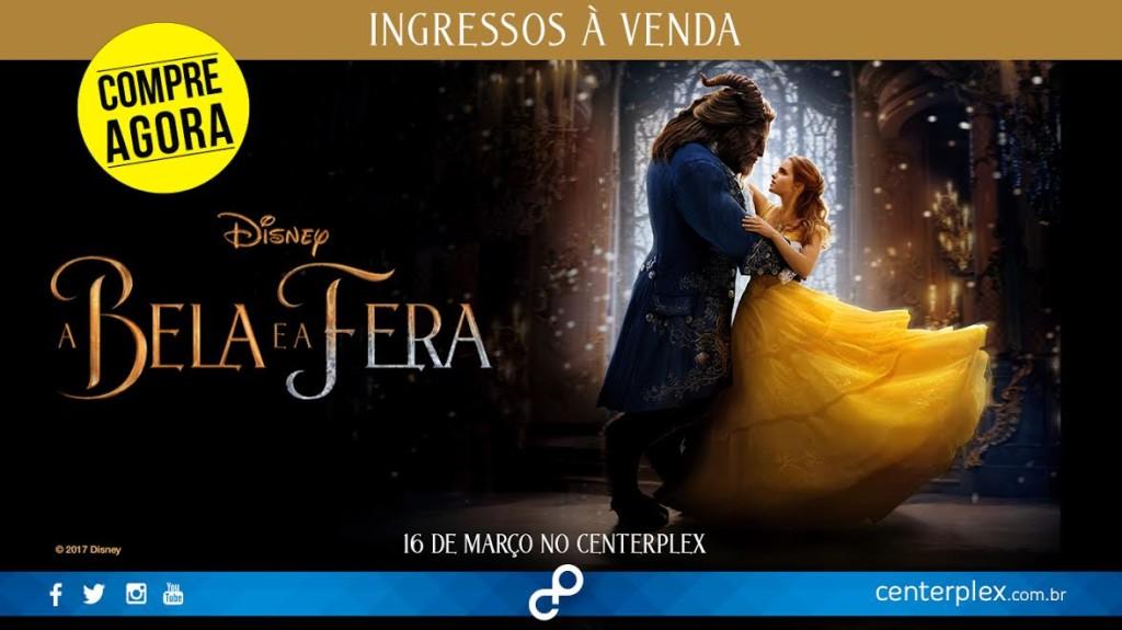 """Começa pré-venda de ingressos para """"A Bela e a Fera"""""""