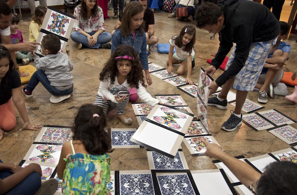 Atividade de incentivo à  leitura na CAIXA Cultural Fortaleza
