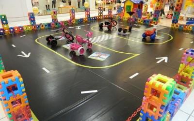 Circuito infantil é atração no Grand Shopping