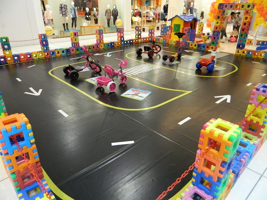 circuito infantil no Grand Shopping
