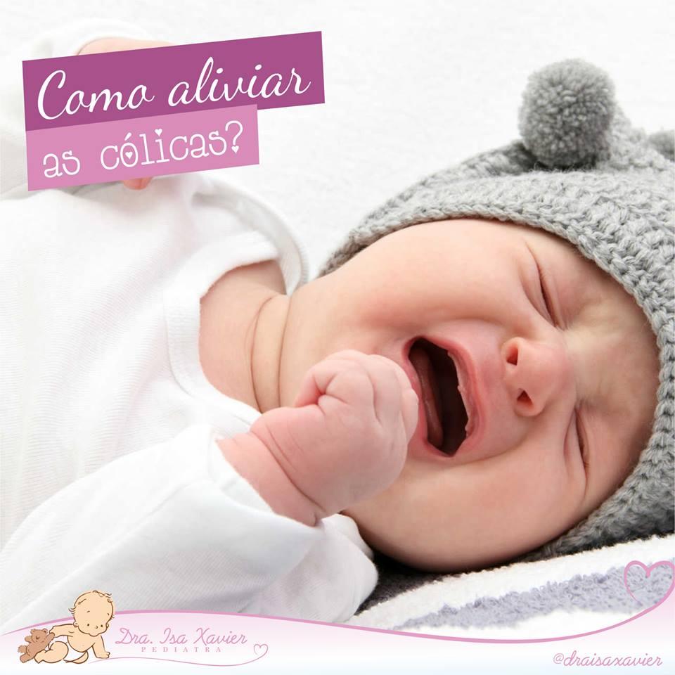 Como aliviar as cólicas nos bebês